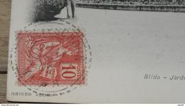CPA ALGERIE Avec Cachet Perlé TEFESCHOUN ALGER 1902  …... … PHI.......2600 - 1877-1920: Période Semi Moderne