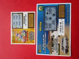 2 GRATTAGES, BILLETS,  TICKETS  - LOTERIE NATIONALE Du BENIN - Billets De Loterie