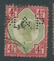 Grande Bretagne 1887-1900 Yvt 98 Perforé - Used Stamps