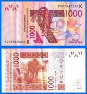 Banque Central Etats Afrique Ouest 1000 Francs CFA 2003 Que Prix + Port BCEAO Paypal Skrill Bitcoin OK - Sénégal