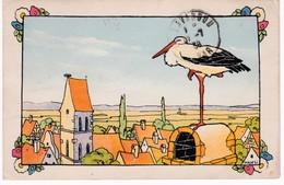 Illustrateur HANSI - La Cigogne - Hansi
