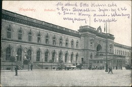 Ansichtskarte Altstadt-Magdeburg Partie Am Hauptbahnhof 1917 - Deutschland