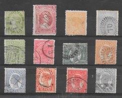 Queensland Classiques Lot De 12 Tp 1879-1900 O - 1860-1909 Queensland