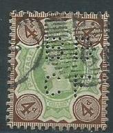 Grande Bretagne 1887-1900 Yvt 97 Perforé - Used Stamps