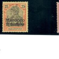 GERMAN OFFICES In MOROCCO1900/3:Michel11mh* - Ufficio: Marocco