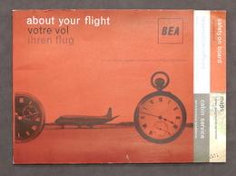 Aeronautica - Brochure Compagnia Aerea BEA - British European Airways - 1962 - Pubblicitari