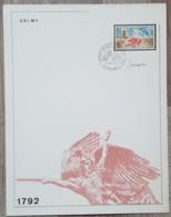 FDC Sur Encart 1971 - YT N°1679 - BATAILLE DE VALMY + Signature Decaris - FDC