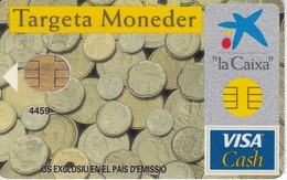 TARJETA DE BANCO DE LA CAIXA - TARGETA MONEDER (CREDITCARD-BANK-VISA) (CHIP-PUCE) - Sin Clasificación