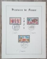 FDC Sur Encart 1971 - HISTOIRE DE FRANCE + Signature DECARIS - FDC