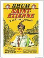 Etiquette   RHUM  SAINT-ETIENNE Agricole 50° 100cl - Médaille D'or 1983&1985 - Plantation Au Gros Morne - MARTINIQUE - - Rhum