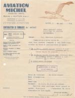 """1944 Commande D ' AVIATION MICHEL """" Société REPLIÉE à AUTUN - CIGOGNE - WW2 - Guerre 39-45 - Historical Documents"""