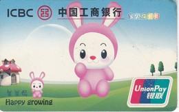 TARJETA DE CHINA DEL BANCO ICBC HAPPY GROWING (CREDITCARD-BANK-VISA) - Phonecards