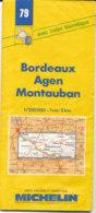 Carte Michelin N°79 Bordeaux Agen Montauban 1995 - Cartes Routières