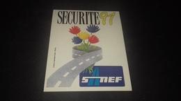 Autocollant Sanef Autoroute Sécurité  1991 - Autocollants