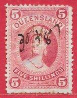 Queensland N°48 5S Carmin 1882 O - 1860-1909 Queensland