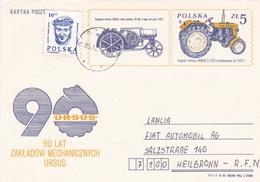 Poland 1983 90 Lat Zakladow Mechaniczynch Ursus 5zt+10zt Postal Stationary Postcard Unused - Stamped Stationery