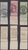 """Belgique - COB 56, 58, 60  Tous Coin De Feuille """" Atelier Du Timbre """"  (DD) DC2968 - 1893-1900 Fine Barbe"""