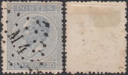 """Belgique - COB 18 Obl. Ambulant """"M4"""" Tournai Jurbise  (DD) DC2982 - 1865-1866 Profile Left"""
