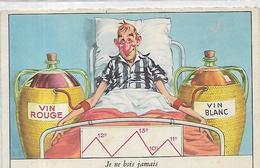 Thèmes, HUMOUR, Je Ne Bois Jamais,  Couleurs, Scan Recto Verso - Humour