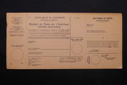 LUXEMBOURG - Mandat De Poste Non Utilisé , Période 1930 - L 28397 - Luxembourg