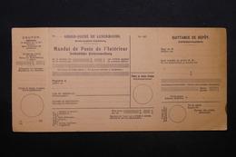 LUXEMBOURG - Mandat De Poste Non Utilisé , Période 1930 - L 28398 - Luxembourg