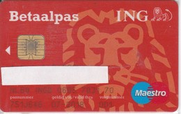 TARJETA DE BANCO ING BETAALPAS  LEON-LION (CREDITCARD-BANK-VISA) (CHIP-PUCE) - Tarjetas Telefónicas