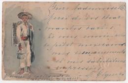 MEXICO Rare Carte Peinte à La Main Entier Postal - Messico