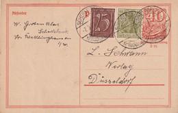 ALLEMAGNE  1922    ENTIER POSTAL/GANZSACHE/POSTAL STATIONERY CARTE DE SCHERLEBECK - Germania