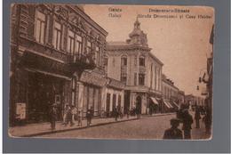 ROMANIA Galatz Galati Strada Domneasca Si Casa Helder  1919 OLD POSTCARD - Roumanie