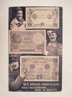 BILLETS DE 5 , 10 , ET  20 FRANCS   ....MILITAIRES - Monnaies (représentations)