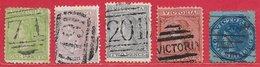 Victoria N°54, 55, 55a, 60, 61 1867-78 O - 1850-1912 Victoria