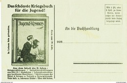Original-Werbung/ Anzeige 1915 - BÜCHERZETTEL ALS POSTKARTE / KOSMOS - STUTTGART - Ca. 130 X 90 Mm - Werbepostkarten