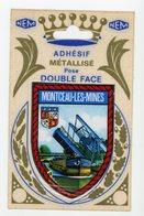 ECUSSON ADHESIF DOUBLE FACE DE MONTCEAU-LES-MINES (60X85 M/M) - Autres Collections
