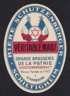 Etiquette Bière Francaise Schutzenberger à Schiltigheim.   Ancienne Et Neuve - Bière