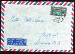 Girostamps54.- CARTA DE VALORES DECLARADOS CIRCULADA DESDE DENIA (ALICANTE) A MADRID - 1951-60 Cartas