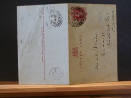 79/359A    LETTER CARD  VICTORIA 1892 - Luftpost & Aerogramme