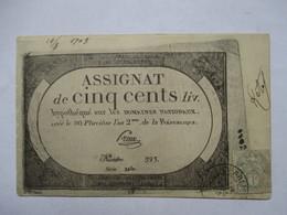 ASSIGNAT DE 500 LIVRES  ......        TTB - Monnaies (représentations)