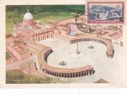 Vatican 1948 St Peters And Vatican City Maximum Card - Vatican
