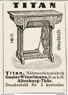 Original-Werbung/ Anzeige 1928 - TITAN NÄHMASCHINEN / WINSELMANN - ALTENBURG - Ca. 35 X 50 Mm - Pubblicitari