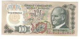 Turkey 100 Lirasi 1979 UNC - Turchia