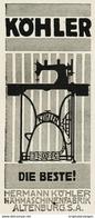 Original-Werbung/ Anzeige 1915 - KÖHLER NÄHMASCHINEN - ALTENBURG - Ca. 40 X 80 Mm - Pubblicitari