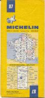 Carte Michelin N°87 Wissembourg Belfort 1978 - Roadmaps