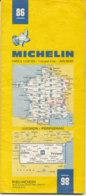 Carte Michelin N°86 Luchon Perpignan 1983 - Cartes Routières
