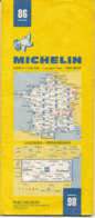 Carte Michelin N°86 Luchon Perpignan 1983 - Roadmaps
