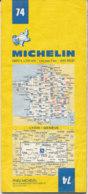 Carte Michelin N°74 Lyon Genève 1980 - Cartes Routières