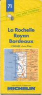 Carte Michelin N°71 La Rochelle Royan Bordeaux 1993/1994 - Roadmaps