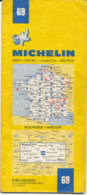 Carte Michelin N°69 Bourges Mâcon 1980 - Cartes Routières