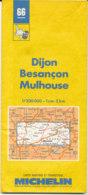 Carte Michelin N°66 Dijon Besançon Mulhouse 1988 - Cartes Routières
