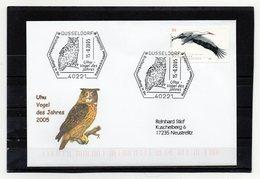 BRD, 2005, Brief (echt Gelaufen) Mit Michel 2393 Und Sonderstempel, Uhu/Vogel Des Jahres 2005 - Covers
