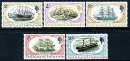 Falkland Islands 1970 Restoration Of SS Great Britain Ships Set Of 5, MNH, SG 258/62 - Falkland Islands
